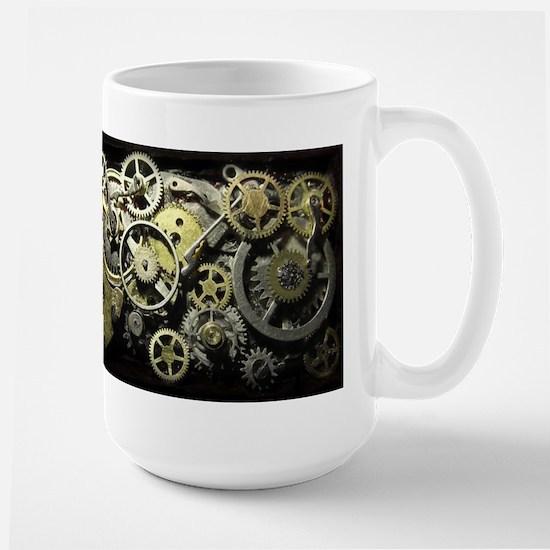 SteamPunk Gears Large Mug