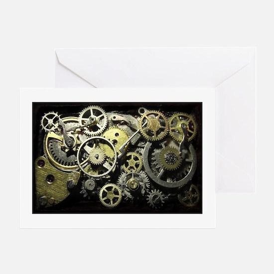 SteamPunk Gears Greeting Card