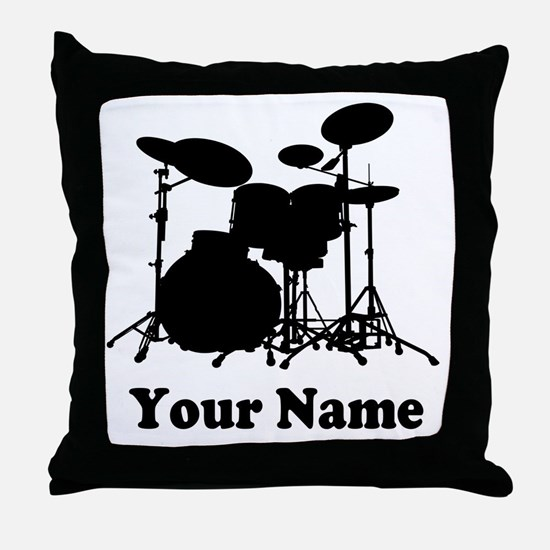Personalized Drums Throw Pillow