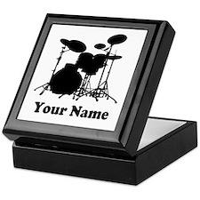 Personalized Drums Keepsake Box