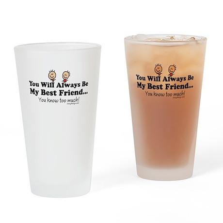 Best Friends Knows Drinking Glass