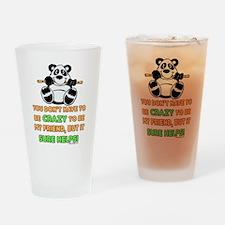 Crazy Friends Drinking Glass