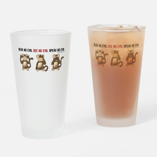 Hear No Evil... Drinking Glass