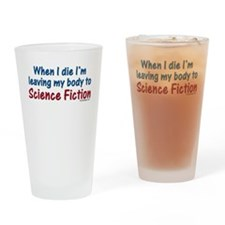 Science Fiction Drinking Glass