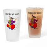 Adrenaline Addict Drinking Glass