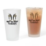 Crazy Penguins Drinking Glass
