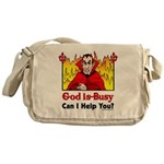 God is Busy Messenger Bag