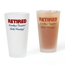 Retired: Goodbye Tension Hell Drinking Glass