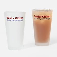 Senior Citizen Discount Drinking Glass