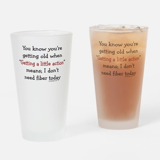 Getting Old Drinking Glass