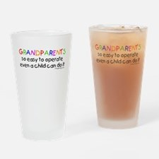 Grandparents Drinking Glass