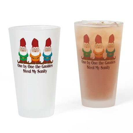 One By One The Gnomes Drinking Glass