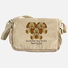 See No Evil Puppy Dogs Messenger Bag