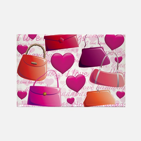 I love Handbags Rectangle Magnet
