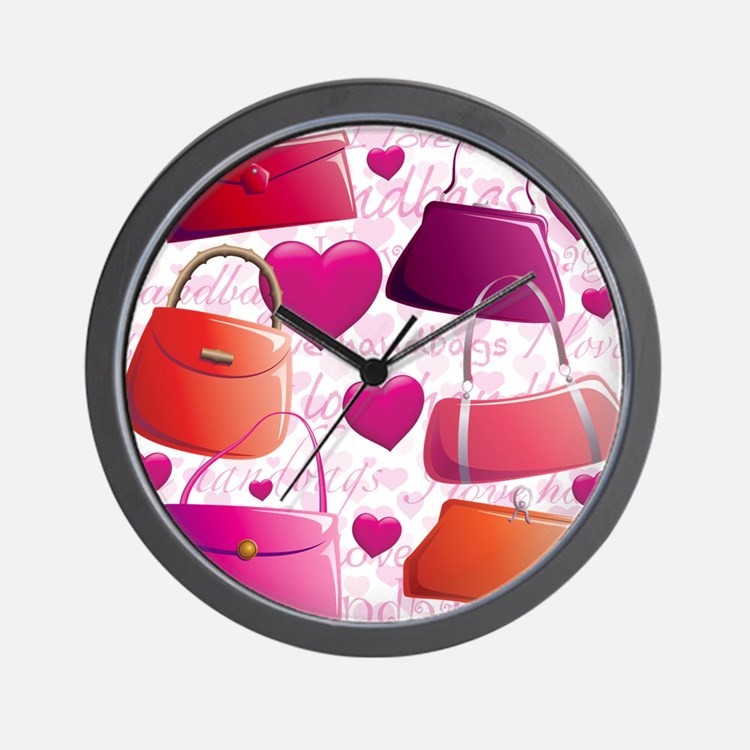 I love Handbags Wall Clock