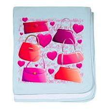 I love Handbags baby blanket