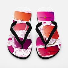 I love Handbags Flip Flops