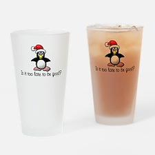 Christmas Penguin Drinking Glass
