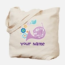 Personalized French Horn Tote Bag