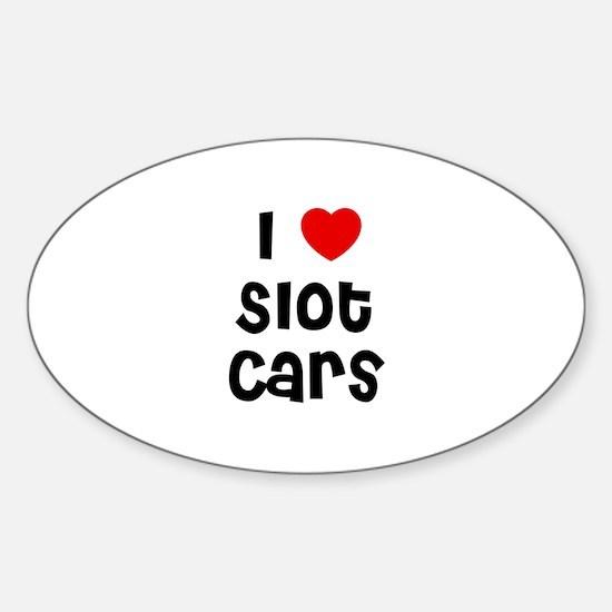 I * Slot Cars Oval Decal