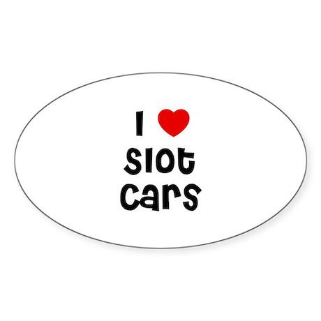 I * Slot Cars Oval Sticker