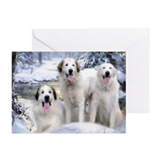 Great Pyrenees Greeting Cards 3 Pyrs (Pk of 20)