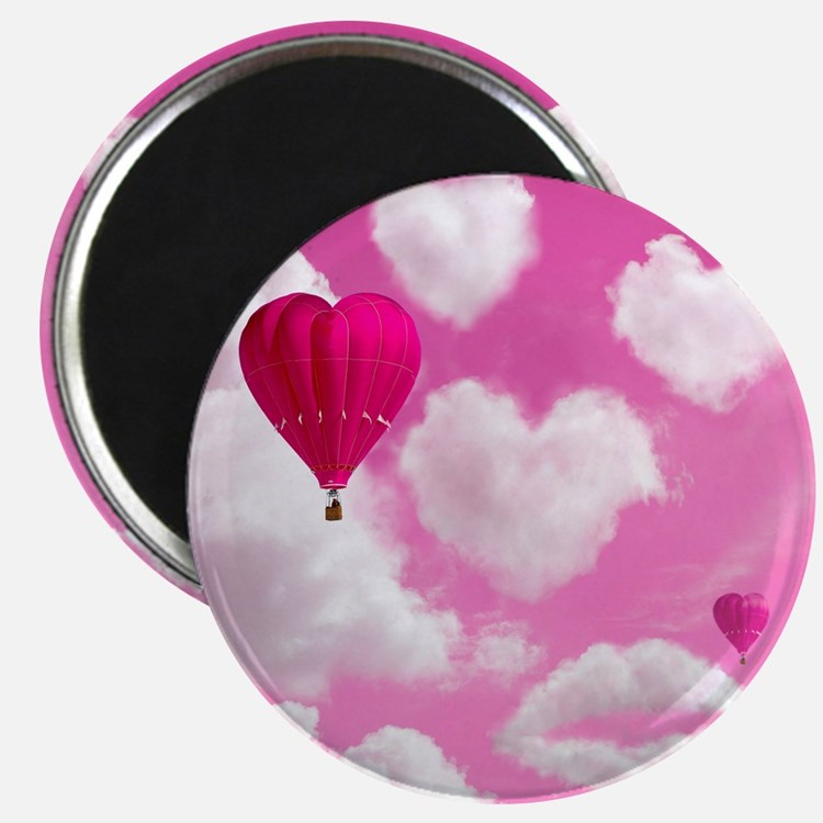 Heart Clouds and Balloon Magnet