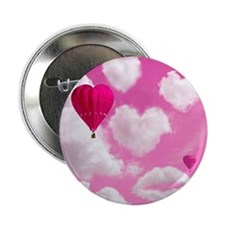 "Heart Clouds and Balloon 2.25"" Button"