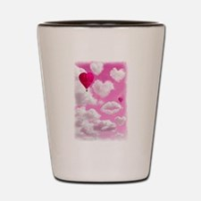 Heart Clouds and Balloon Shot Glass