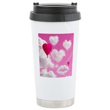 Heart Clouds and Balloon Thermos Mug