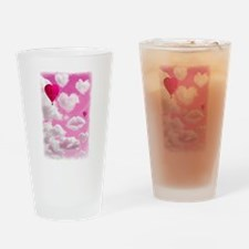 Heart Clouds and Balloon Drinking Glass