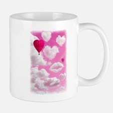 Heart Clouds and Balloon Mug