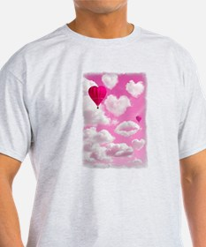 Heart Clouds and Balloon T-Shirt