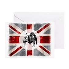 Union Jack and Bulldog Greeting Cards (Pk of 10)