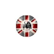 Union Jack and Bulldog Mini Button