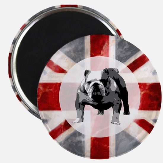 Union Jack and Bulldog Magnet