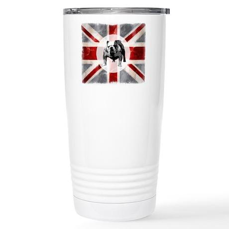 Union Jack and Bulldog Stainless Steel Travel Mug