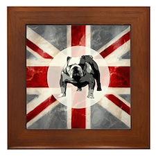 Union Jack and Bulldog Framed Tile