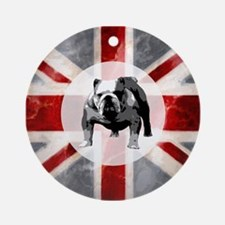 Union Jack and Bulldog Ornament (Round)