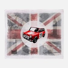Union Jack, Mini and London I Throw Blanket