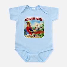 Golden Pheasants Cigar Label Infant Bodysuit