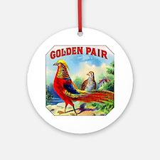 Golden Pheasants Cigar Label Ornament (Round)