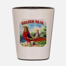 Golden Pheasants Cigar Label Shot Glass