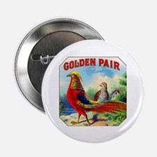 "Golden Pheasants Cigar Label 2.25"" Button (10 pack"