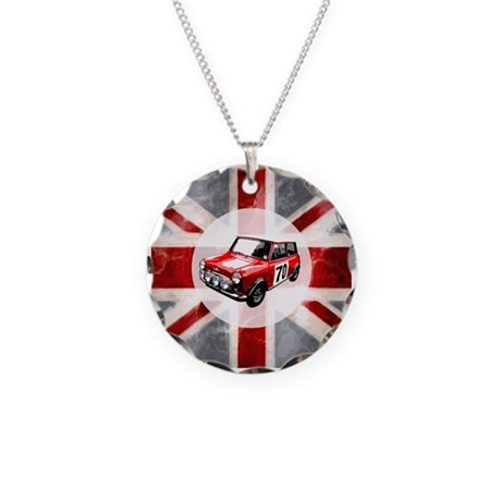 Union Jack and Mini Necklace Circle Charm
