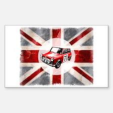 Union Jack and Mini Sticker (Rectangle)