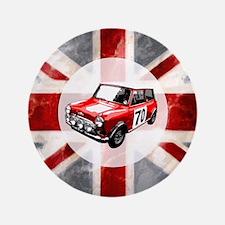 "Union Jack and Mini 3.5"" Button"