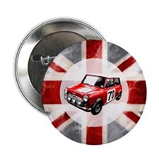 "Union Jack and Mini 2.25"" Button (10 pack)"