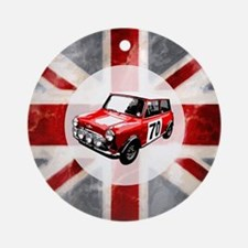 Union Jack and Mini Ornament (Round)