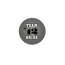 B&W Emblem Star Bride 12 Mini Button (10 pack)